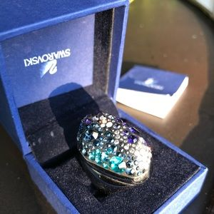 Authentic Swarovski crystal cocktail ring